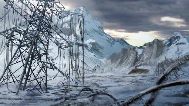 Post Apocalyptic Winter Location Concept by IceRider098