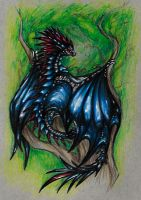 ~ Red-Maned Blue ~ by SaphireDragon16