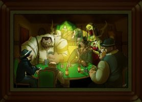 Zombies Playing Poker by youlootamax