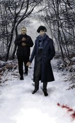 Sherlock: Blood on Snow painting by Drombyb