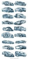 Random car sketches 4 by Rykunov