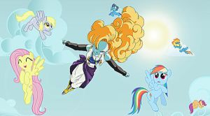 Flying With The Ponies by TheMasterofDespair