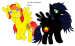 Midnight Star and Emma Flower. by Daceria