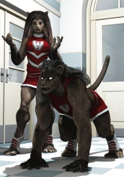 Catty Cheerleaders by DLB72
