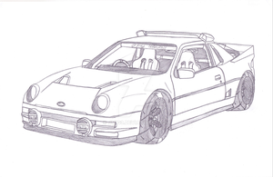 1986 Ford RS200 Evolution by jmig3