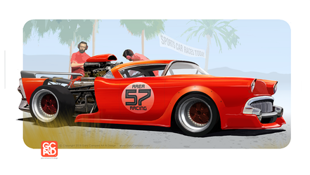 1957 Buick Racer from another world by GaryCampesi