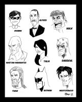 Marvel and DC Heads by RADMANRB