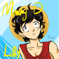 Luffy Doodle by CartoonOwl