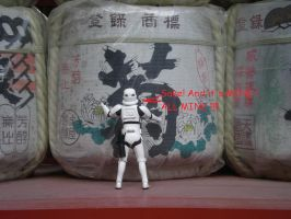 Stormtrooper Gets Drunk  Sake by masterbarkeep