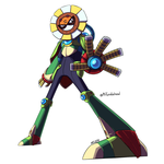 Megaman 30th Collab: Optic Sunflower by MrTwinklehead