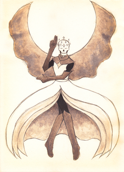 The Ascended Seraph - Deitale Papyrus by Sophtopus