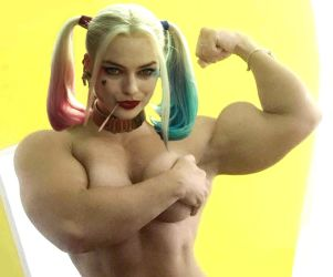 Harley Quinn Muscled by Turbo99