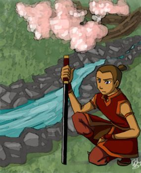 Into the Fire Nation -  Sokka by river-bird