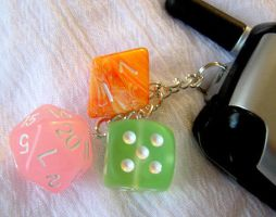 Dice Phone Charm by lavadragon
