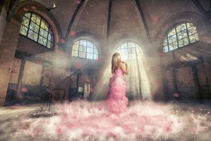 Lady in pink by WesterArt