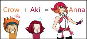 Crow and Aki equals... Anna? by KarniMolly