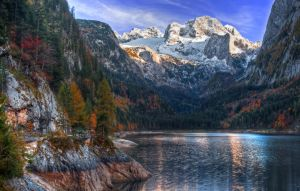 Autumn at the Gosausee by Toghar