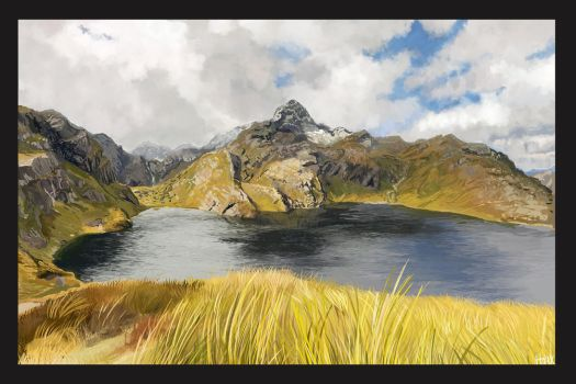 New Zeland lake by Hoaxers