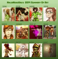 Ninja's 2014 Summary of Art Meme by MotherofOnity