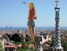 Jessica Simpson in Barcelona by Accasbel