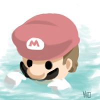 Mario in water by Ge-B