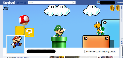 Mario and Luigi Facebook Timeline Header by W1CK3DMATT
