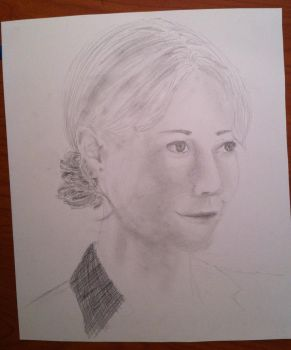 Realistic(ish) Pepper Potts WIP by DoodleGeek4Ever