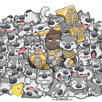 Lord Saladin Wolf Pack Family Portrait by KevinRaganit