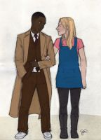 Hardison/Doctor + Parker/Rose by artgyrl