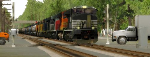 Norfolk Southern: Acid Train by Invader-Tak2015