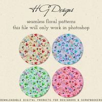 Seamless Floral Photoshop Patterns by HGGraphicDesigns