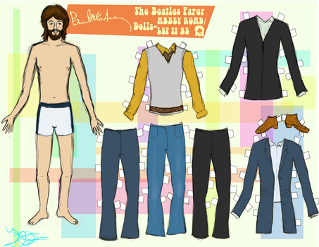 PAUL MCCARTNEY PAPER DOLL 4 by 89000007ANL
