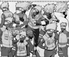 Kakashi Collage by step-on-mee