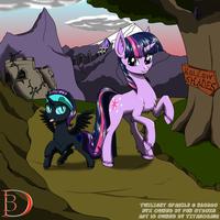 Nyx and Twilight's Awesome Journey of awesomeness by TITANOSAUR