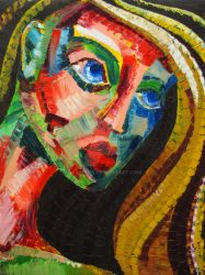 Expressionistic Face by OsaWahn