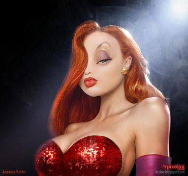 Jessica Rabbit Untooned by pixeloo