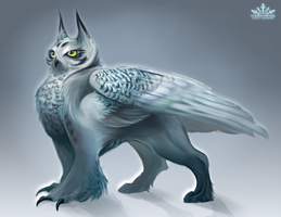 Avalanche the Owl Griffin by nanzdraws