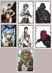 Commissioned Sketch Cards B by tonyperna