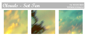 Funky Clouds - Set Ten by Tarla