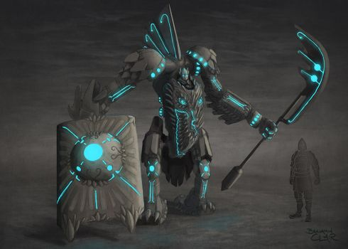 Garuda Infused Heavy Armor Concept 1 by mighty5cent