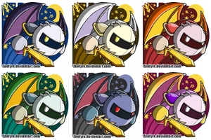 Brawl Stickers - Meta Knight by Zenfyre