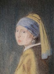 Girl With a Pearl Earring Vermeer Art by natallymp