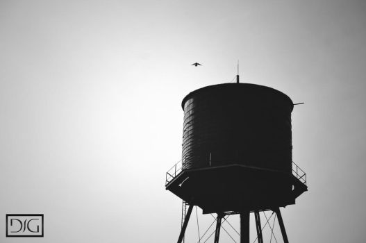Water Tower by DavidJosephGall