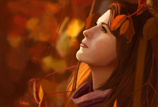 Autumn Girl by Wolkenfels