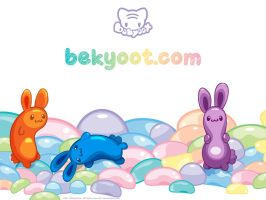 Jelly Bunny Pile by lafhaha