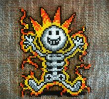 Earthbound Electrocution Sprite by Papikari