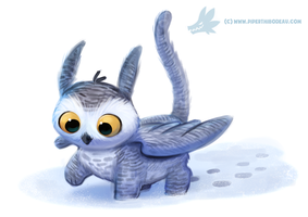 Daily Paint #1134. Owl Griffin by Cryptid-Creations