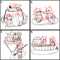 [YCH] DESSERT COUPLES [4/4 OPEN ] by Yule2B