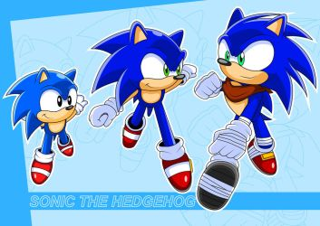 Sonic classic, modern and BOOM!!! by Arung98