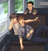 Riding on the Metro by halobender